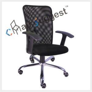 Low back net chair