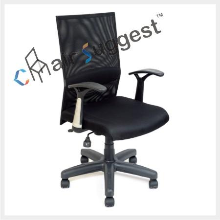 Medium back net office chair